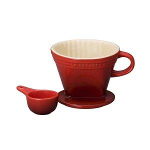 [르크루제] 커피 드리퍼&스푼-빨강