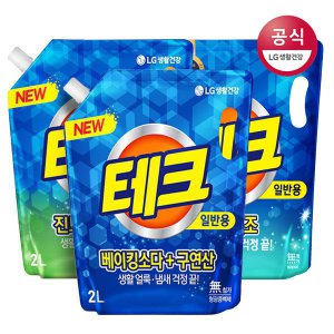 테크 베이킹구연산/실내건조/진드기리필 2Lx3