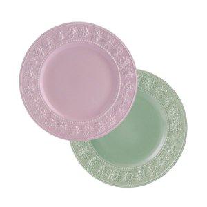 웨지우드 페스티비티 27cm 접시 2p (핑크/그린)
