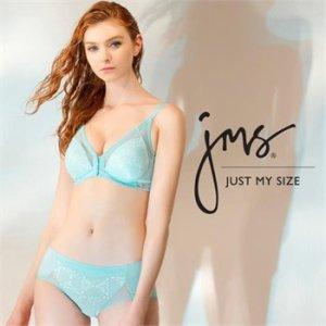 (하프클럽)[Just My Size] 프론트훅 노와이어 라이트블루 브라팬티 2종세트 JM_P045978186