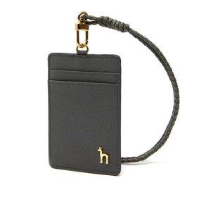 [현대백화점 판교점] [헤지스핸드백] HIHO0E307G2 [LEENA] 그레이 배색 가죽 목걸이카드홀더
