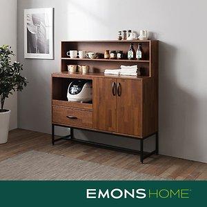 에몬스홈 인디 스틸 멀바우 다용도 주방 수납장세트(상부선반