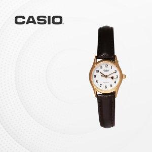 카시오 CASIO LTP-1094Q-7B5 가죽밴드 여성 손목시계