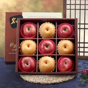 신선한아침 사각 실속 과일선물세트 3.7kg (사과5배4)