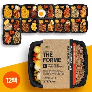 더포르미 흑현미/잡곡/강황쌀 영양 도시락 10종 12팩