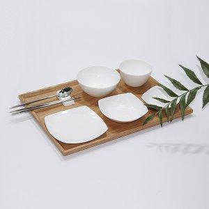 [백화점SAY][한국도자기]한국도자기 더셰프 원형 사각 화이트 1인 혼밥세트 5p
