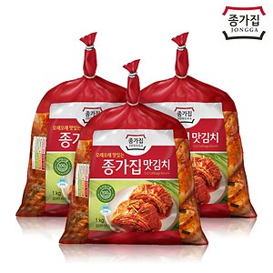 종가집 맛김치 3kg(1kg x 3)