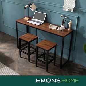 에몬스홈 인디 스틸 멀바우 다용도 컴팩트 테이블 1500