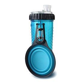 덱사스 휴대용 듀오 물병 스낵 블루 709ml