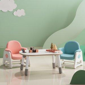 뚜뚜 높이조절 아이 책상 의자 세트 (핑크,블루)