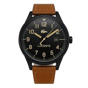 라코스테 LACOSTE 2011021 컨티넨탈 남성 가죽 43mm