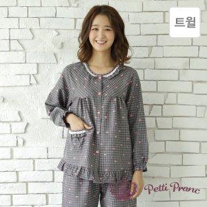 GD05918 쁘띠쁘랑 러블리 체크 트윌 여성 잠옷 세트
