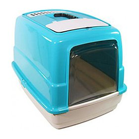 FOP 조이캣 후드 고양이 화장실 블루