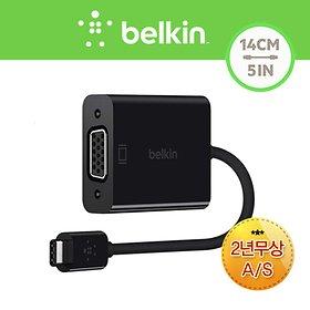 벨킨 USB C타입 케이블 VGA 어댑터 젠더 F2CU037bt
