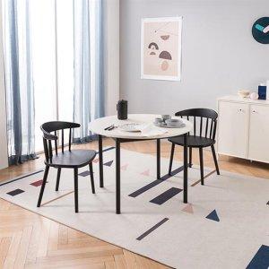 로티르 4인 원형식탁SET 의자2개