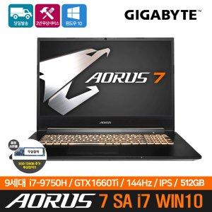 기가바이트 AORUS 7 SA i7 E WIN10  GTX1660TI
