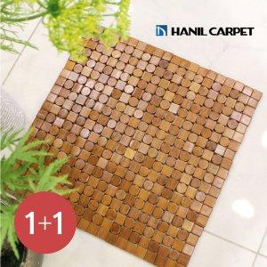 [한일카페트][1+1] 디자인 마작 대나무 방석 웨버