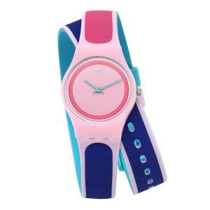 SWATCH 스와치 LP140 여성용 쿼츠 실리콘 시계