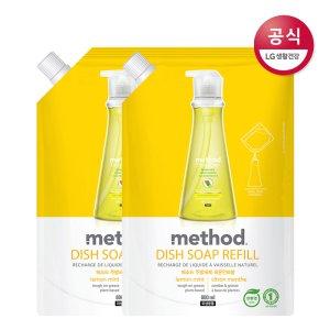 메소드 레몬민트 주방세제 리필 800ml x2개