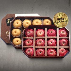 신선한아침 팔각 실속 과일선물 9.9kg (사과12+배12)
