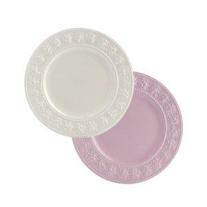 웨지우드 페스티비티 20cm 접시 2p (아이보리/핑크)