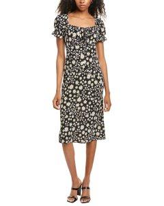 도나모르간 미디 드레스 Donna Morgan Short Sleeve Midi Dress