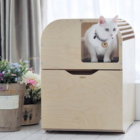 [뽀떼] 고양이원목화장실 리브 심플(DIY)