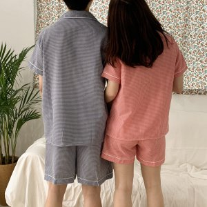 ☆추천☆ 체크 커플 파자마 여름 잠옷