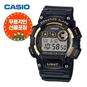 (무료각인) 카시오 전자군인시계 진동알람 W-735H-1A2