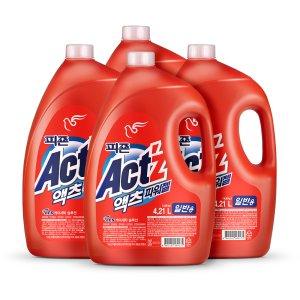 액체세탁세제 액츠 4.21Lx4개/특대용량