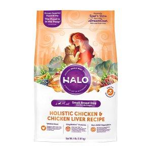 [유통기한 2021-09-08] HALO 헤일로 스몰브리드 홀리스틱 치킨&치킨간 1.81kg