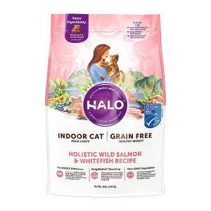 [유통기한 2021-11-13] HALO 헤일로 인도어 캣 헬시웨이트 연어&흰살생선 4.54kg