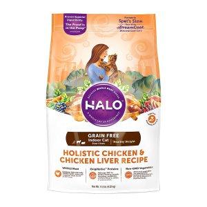 [유통기한 2021-12-23] HALO 헤일로 인도어 캣 헬시웨이트 치킨&치킨간 4.54kg