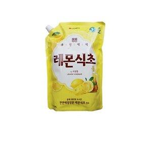 퐁퐁 주방세제 레몬 식초 1200ml 리필