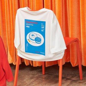 [AK수원점][휠라] FS2RSC2S03X OWH 휠라 X 슈퍼막셰 도넛 티셔츠