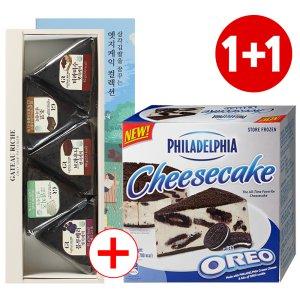 필라델피아 오레오치즈케익 + 삼각김밥케익