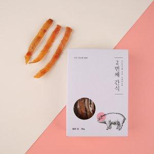 [유통기한 2021-11-24] 연어&야채코팅 THE 건강한 형제 2번째간식 돼지귀 70g