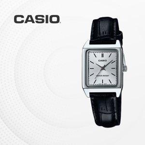 카시오 CASIO LTP-V007L-7E1 가죽밴드 여성 손목시계
