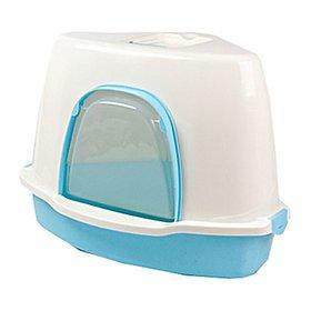 산시아 톰캣 코너 고양이 화장실 스쿱 포함 블루