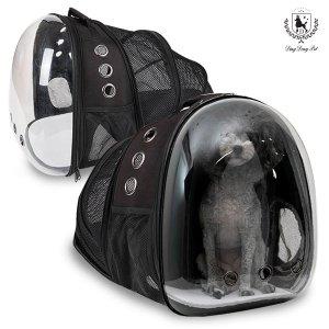 딩동펫 반려동물 이동가방 투명우주선 백팩확장형