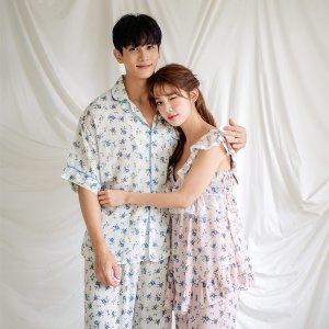 제노비아 커플 레이온 민소매 잠옷세트(2컬러)커플잠
