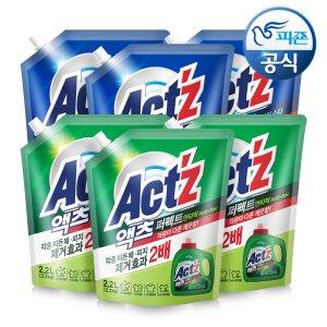 액츠 액체세탁세제 퍼펙트 2.2L - 안티박/베이킹소다