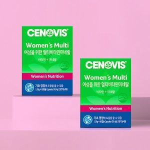 세노비스 여성용멀티비타민미네랄 60캡슐/60일분x2개
