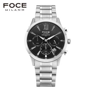 [공식본사정품] FOCE 포체 FM7524BK 메탈 시계
