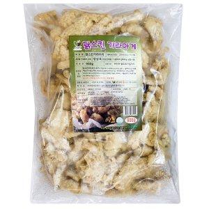 닭껍질 900g 국내산 유탕 냉동 튀김 닭스킨 가라아게