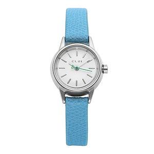 CLOI 클로이 Monaco Blue 22mm 여성 가죽 시계