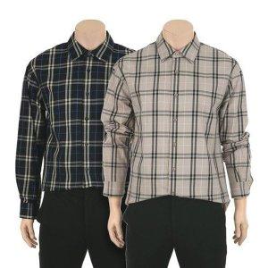 [갤러리아][ANDEW] 앤듀 유니)코튼 세미오버핏 빅체크 기본카라 셔츠 (O201SH020P)