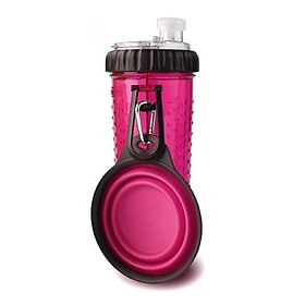 덱사스 휴대용 듀오 물병 스낵 핑크 709ml / 간식과 물을 한번에