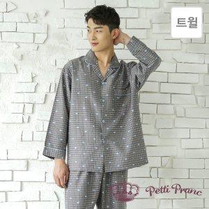 GD23918 쁘띠쁘랑 러블리 트윌 남성 9부 잠옷 세트