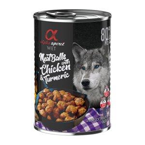 알파스피릿 강아지주식캔 닭고기와 강황 미트볼 400g